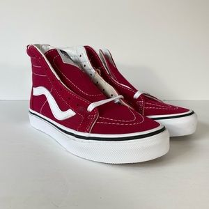 Vans Sk8-Hi Zip Persian Red True White Sneakers